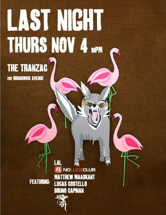 Thursday Nov.4th - LAL + No Luck Club